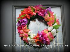Very Cute...Dollar Store Spring Tulip Wreath