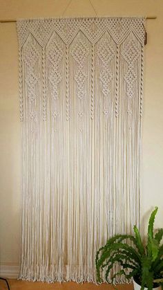 Macrame curtain room