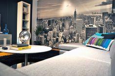 New York City 2 - b/w - Wall mural, Wallpaper, Photowall, Home decor, Fototapet, Valokuvatapetit
