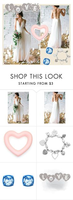 """beach wedding dresses"" by customdress520 ❤ liked on Polyvore featuring ChloBo and Atelier Swarovski"