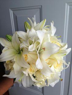CBR119  Riviera Maya weddings / Bodas Riviera Maya weddings / Bodas ramo Lilis y rosas /bouquet lilies roses