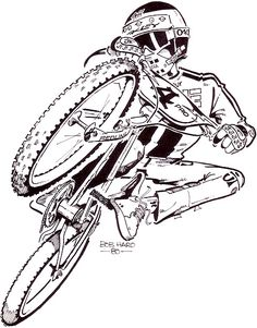 Page 2 of 2 - The offical Bob Haro artwork thread - posted in Riding, Research & Collecting: Bicycle Motocross Action, April 1980 Racing Baby, Bmx Racing, Downhill Bike, Tatoo Bike, Bike Tattoos, Bmx Freestyle, Cycling Art, Cycling Quotes, Cycling Jerseys