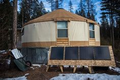 Yurt Life with Mollie and Sean Busby Outdoor Rooms, Outdoor Living, Yurt Living, Tiny Living, Simple Living, Yurt Home, Cob Building, Tiny House Blog, Little Houses