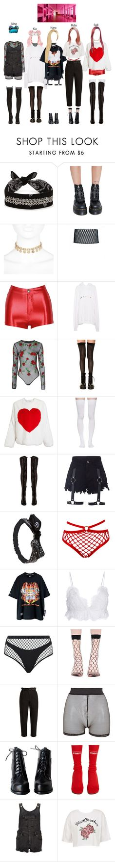 """BABY (아기) — 'Incredibly Strange Creatures' MV"" by officialbaby ❤ liked on Polyvore featuring Fallon, Dr. Martens, River Island, Gucci, Topshop, K. Bell, MSGM, Marieyat, Jeffrey Campbell and Wet Seal"