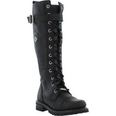 UK leather women's mid calf harley Davidson boot size 4 - Google Search