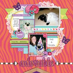 Girlie Girls by Miss Mint of Peppermint Creative *part of the May 2014 Scrap Pack  http://scrapstacks.com/scrappack/ template by Cindy Schneider set 16