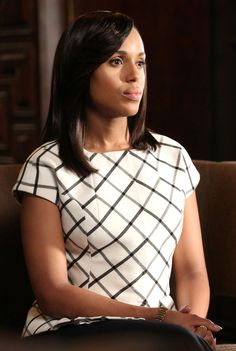 """""""The Limited Scandal Collection"""" Check Peplum Jacket worn by Olivia Pope (Kerry Washington) on Scandal, season 4."""