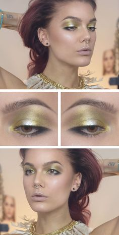 Liquid gold ♥ Linda Hallberg - incredible makeup artist. Very inspiring -- from her daily makeup blog. | Inspiration for upcoming projects by Adagio Images at www.adagio-images.com/modeling or www.facebook.com/adagioimages | #makeup #makeupinspiration ♥