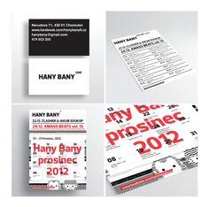 Corporate identity of the Music Club HANY BANY, Chomutov city Web Studio, Corporate Identity, Cards Against Humanity, Club, Music, Musica, Musik, Muziek, Branding