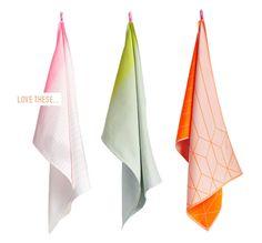 gradient tea towels