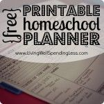 1st-6th grade homeschooling. From Free Printable Homeschool Planner to Math  etc...--Awesome resource with daily, weekly, & quarterly planning pages! #homeschool #planner