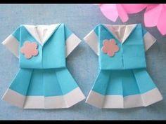 簡単! 可愛いセーラー服の折紙 プレゼントで大人気❤ - YouTube