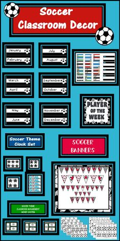 This Soccer Theme Classroom Bundle is fun and full of Bulletin Board ideas for kids to make learning fun and exciting as they begin Back to School this year.
