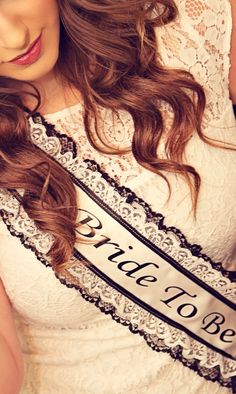 Bachelorette Sash - Bridal Shower Sash - Lace by LaurenLashDesignsLLC on Etsy