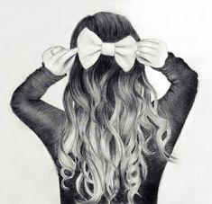 Cute hair bow drawing