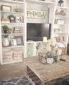 Adorable 36 Charming Farmhouse Living Room Decoration Ideas For Home. Cute Dorm Rooms, Cool Rooms, Home Decor Styles, Diy Home Decor, Living Room Designs, Living Room Decor, Living Rooms, Bookshelves In Living Room, Farmhouse Remodel