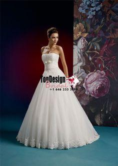 2017 Beading Zipper White Sweep Strapless Sleeveless Appliques Ball Gown Tulle Wedding Dresses