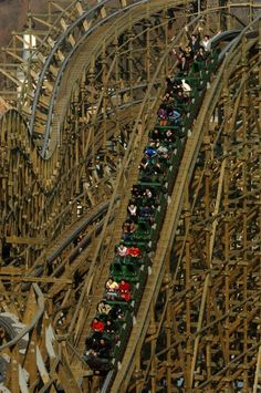 T Express | Everland | South Korea. One of the steepest wooden roller coasters in the world!