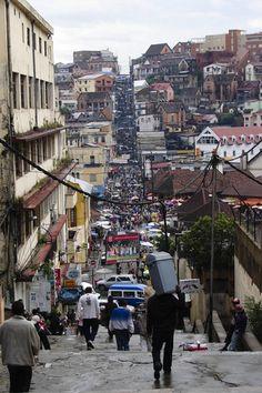 Antananarivo, Madagascar but it looks like a street Padre Pico in Santiago de Cuba, Cuba