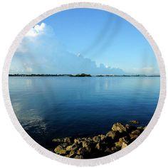 Round Beach Towel - Florida Panorama