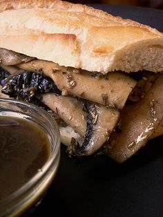 Vegan french dip sandwich! oh my god! one of two things ive craved for years!