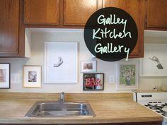Art in a galley kitchen