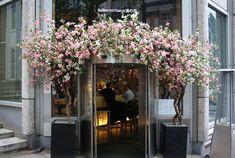 Flower Shop Interiors, Flower Shop Design, Storefront Signs, Window Display Retail, Black Interior Design, Flower Installation, Coffee Shop Design, Shop Fronts, Cute Home Decor