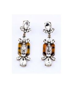 Tortoise Crystal Earrings