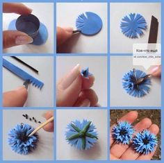 Best Ideas For Cake Art Tutorial Fimo Polymer Clay Flowers, Fimo Clay, Polymer Clay Projects, Polymer Clay Art, Polymer Clay Jewelry, Fondant Flower Tutorial, Fondant Flowers, Paper Flowers, Diy Tutorial