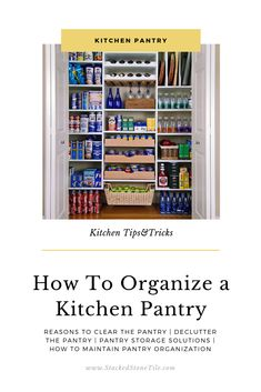 6 Tips About How To Organize a Kitchen Pantry A messy kitchen pantry may flourish for months, even years before grabbing our attention Kitchen Pantry Cupboard, Small Kitchen Pantry, Free Standing Kitchen Pantry, Kitchen Pantry Design, Messy Kitchen, Ikea Kitchen, Kitchen Decor, Kitchen Pantries, Kitchen Organization Pantry