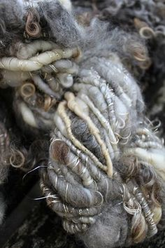 Natural Art Yarn  - Hand spun yarn
