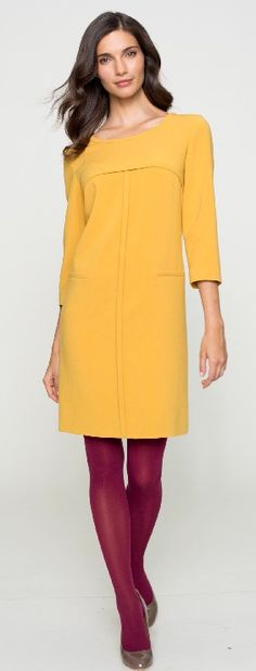 """8.Shift Dress- Simple, sleek and chic, this frock will feel so right. Intense colors, leather trims and luxe fabrics are the fuss-free way to say, """"Hello,"""" to one of autumn's most important items. @Belk @Belkfashionbuzz"""
