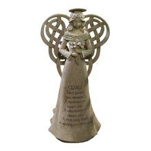 Grasslands Road Dublin Court Celtic Knot Winged Angel Figurine with Irish Blessing. Available at OurPamperedHome.com