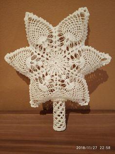 3D špic, Vianočné dekorácie, Háčkovanie   Artmama.sk Crochet Diagram, Tree Toppers, Arts And Crafts, Christmas, Scrappy Quilts, Tejidos, Flowers, Schmuck, Xmas