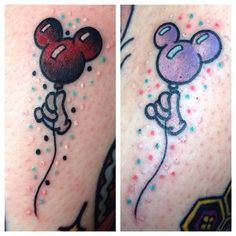 Disney Friendship Balloon tattoos!