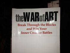 THE WAR OF ART is also a book for my spirit. It gave me direction confirmed my purpose in this life.