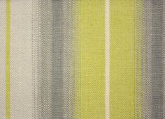 Tabriz Stripe Fabric A herringbone stripe in chartreuse green, grey and ivory.