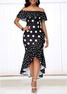 29 Polka Dot Dresses You Will Definitely Want To Keep - Fashion New Trends Short African Dresses, Latest African Fashion Dresses, African Print Fashion, Women's Fashion Dresses, Africa Fashion, Mode Glamour, Vestidos Vintage, African Attire, Fashion Models