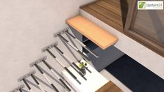 Escalier flottant / suspendu en Kit Sydney - www.upstairs24.fr