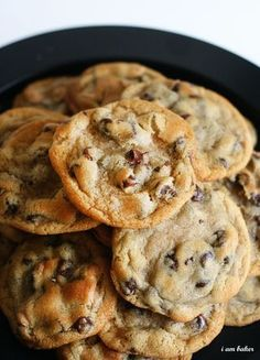 New York Time's Chocolate Chip Cookies - Click for Recipe.