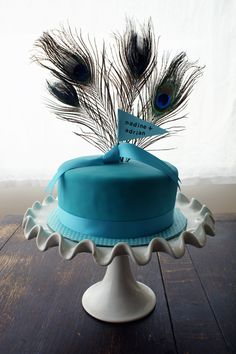 peacock cake - See more vow renewal ideas at IDoStill.com