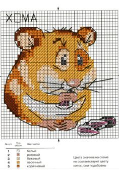 Hamster cross stitch pattern to make little bags for Audrey and Taylor...
