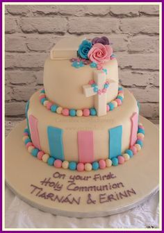 https://flic.kr/s/aHsjd8xuSy | Communion and Confirmation cakes