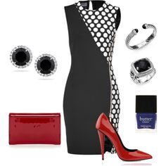 """""""Red And Polka Dots"""" by jessl1117 on Polyvore"""