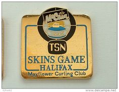 Pin´s CURLING - SKIN GAMES ALIFAX 1995 - MC CAIN - FOND OR