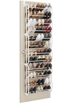 Over The Door Shoe Rack In White. I need this!