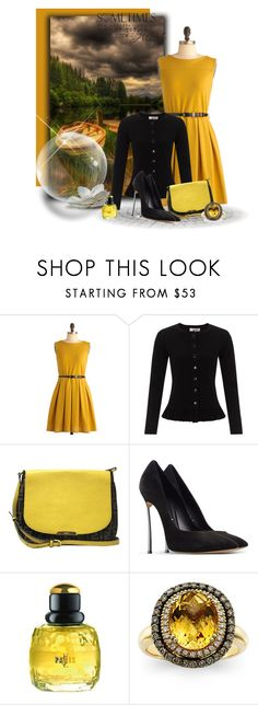 """""""Untitled #144"""" by lilarose111 ❤ liked on Polyvore featuring Somerset by Alice Temperley, Fendi, Casadei, Yves Saint Laurent and LeVian"""