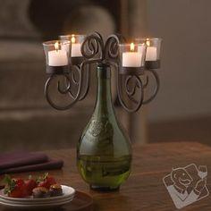 Vino Wine Bottle Candelabra at Wine Enthusiast - $39.95