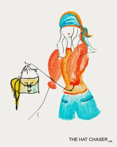 #THEHATCHASER: Orange juice and turquoise skies #thehatchaserink #sketch #outfit