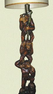 . Three Wise Monkeys, See No Evil, Table Lamp, Ideas, Decor, Table Lamps, Decoration, Decorating, Thoughts